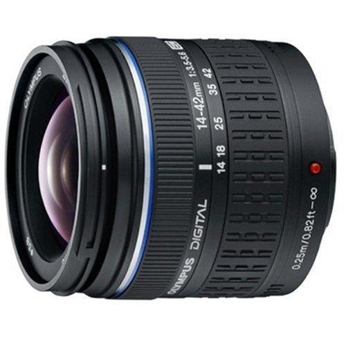 Olympus 14-42 mm f:3.5-5.6 Zuiko Digital - Objetivo para Cuatro tercios (Diámetro: 65.5 mm), Negro