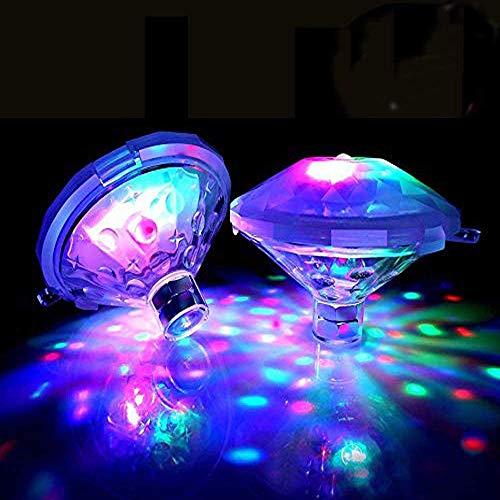 Unterwasser Schwimmende Lampe LED Disco Aqua Glow Multi Farbe Blinkende Bad Teich Pool Spa Whirlpool Party Nachtlicht
