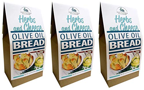 Rabbit Creek Olive Oil Bread Mix Pack of 3 – Herb & Cheese Bread Mix - Quick and Easy Gourmet Bread Mix