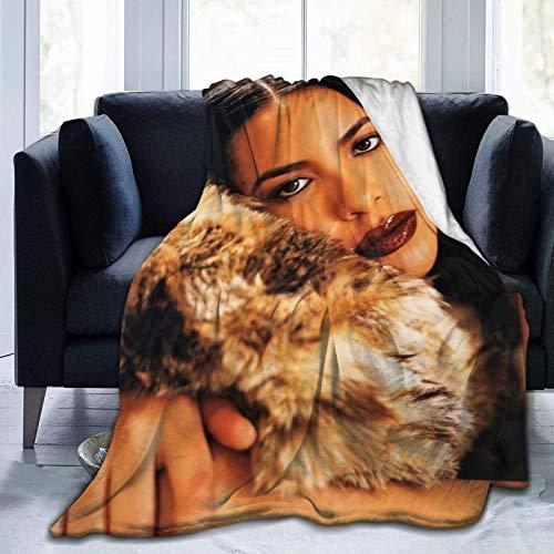 Tengyuntong Manta Ultra Suave Micro Fleece Aaliyah Micro Edredón Ligero para sofá, Dormitorio, Oficina, Viajes