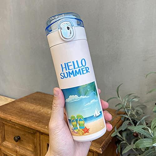 Gitterabdeckung Tasse Kleine Reinigungsbecher Dichtung Tragbare Männer und Frauen Studentenbecher-Sommer-Hausschuhe_400ml