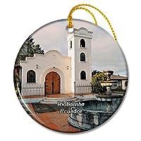 エクアドルリオバンバ教会クリスマスオーナメントセラミックシート旅行お土産ギフト
