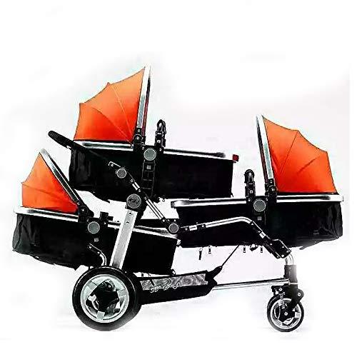 Olydmsky Stroller,Drillinge Kinderwagen Baby Wagen High-Ansicht Kinderwagen Kinderwagen
