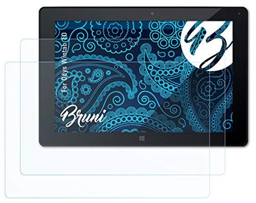 Bruni Schutzfolie kompatibel mit Odys Wintab 10 Folie, glasklare Bildschirmschutzfolie (2X)