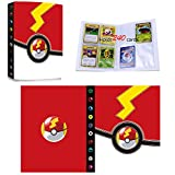 Porta Carte Compatibile con Carte Pokémon GX EX, Album Raccoglitore Cartella Libro Compatibile con Carte Pokémon, Album di carte collezionabili, Può contenere 240 carte (240-C)
