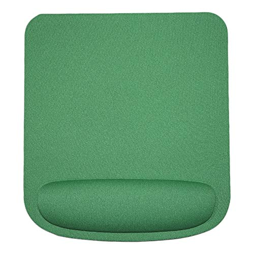 Wrist Rest Mouse Pad, Anti-Slip Soft Sponge Mat Gaming Mouse Pad Cushion with Wrist Rest PC Accessory Green