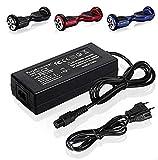 42V 2A Chargeur de Batterie pour Mini Smart Scooter électrique Gyropode REVOE,Deux Roues Self Balance Monocycle Skateboard Adaptateur d'alimentation pour Charger 36V Lithium ION Battery Pack