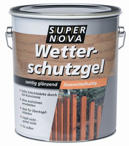 Super Nova Wetterschutzgel Mittelschichtlasur Samtig Glänzend 5 L Farbwahl, Farbe:Palisander
