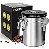 Airtight Coffee Canister, HOKEKI Stainless Steel Container for the Kitchen, Coffee Ground Vault Jar...