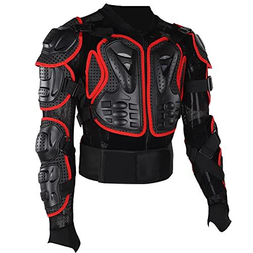 Bnineteenteam Motorradpanzerung, Reitpanzerschutzjacke Motorrad-Ganzkörperpanzerung für Erwachsene Männer und Frauen(2XL)