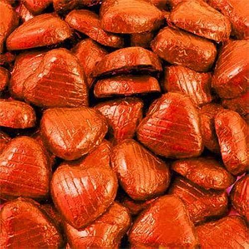 Feuille Orange chocolat coeurs - paquet en vrac (100 pcs)