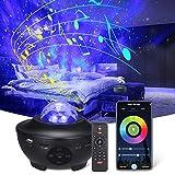 Proyector de Luz Estrellas, Altavoz de música con Conexión wifi Bluetooth y control remoto ,lampara proyector infantil para la decoración del fiestas infantiles