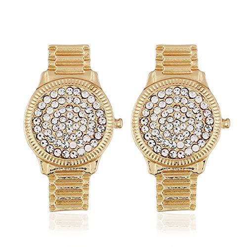 NICE' living hall Simple Watch shape Earrings Diamond Exaggeration Hipster Fashion Decoration Female