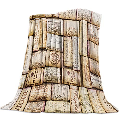 Libaoge Flannel Throw Blanket for Couch Bed Soft Wine Cork Sage Blankets for Boys Girls Kids Toddler Indoor Outdoor 39x49in(100x125cm)