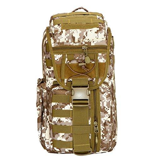 Yy.f Nouveaux Ventilateurs Militaires Outdoor Sac à Dos. Visites 3D Randonnée Alpinisme Sacs De Camping équipement D'attaque Camouflage Tactique Pack Sac à Dos. Multicolore,C-23*11*47cm