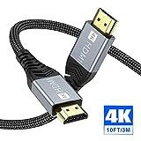 4K HDMI Kabel,ONIOU 3M Highspeed HDMI 2.0 Kabel 4K@60Hz 18Gbps Kompatibel für HD