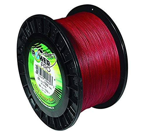 Power Pro 21100150500V Braided Spectra Fiber Fishing Line, 15 lb/500 yd, Vermilion Red