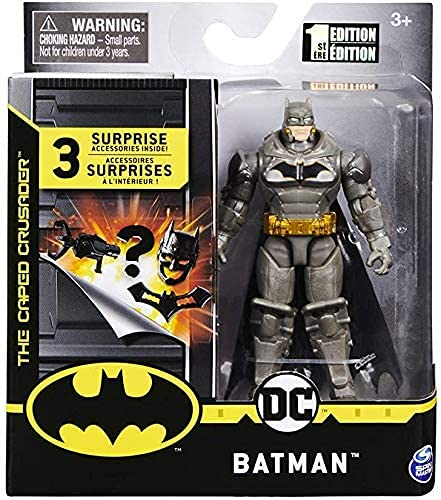 Dc Comics Batman – Articulated Figurine 10 cm + 3 Mystery Accessories – Batman Heavy Armor