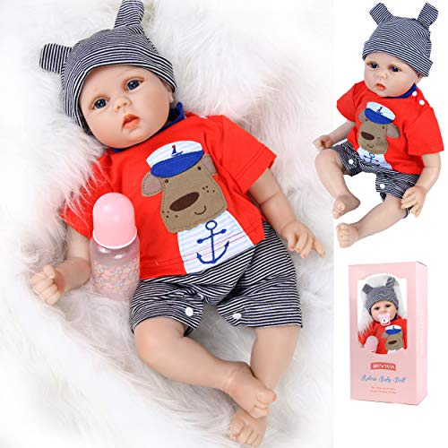 ZIYIUI Muñecas Reborn Bebé Niña 17 Pulgadas 45cm Silicona Blanda Vinilo Bebes Reborn Baratos Juguetes Bebé Reborn Natural Vida Real Reborn Baby