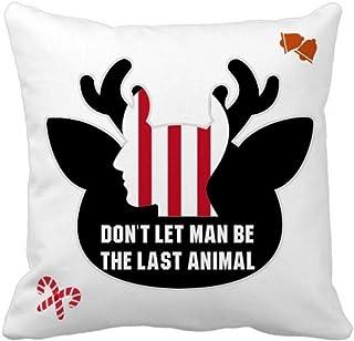 OFFbb-USA Dont Let Man Be The Last Animal - Funda cuadrada para almohada