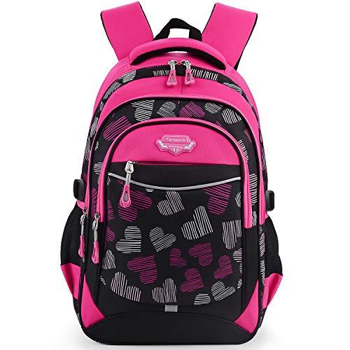 Schulranzen Mädchen, Fanspack Schulrucksack Mädchen Teenager Rucksack Mädchen Kinder Teenager groß Schultasche Tasche Jugendliche