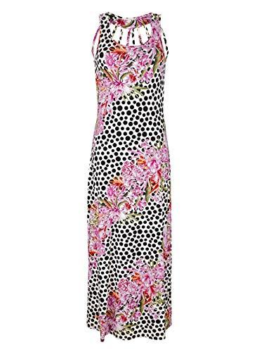 Alba Moda Kleid im Punkte-Blumendessin bunt