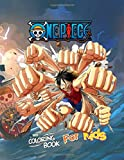 One Piece Coloring Book for Kids: One Piece Characters Stress Relief Coloring Book with 78 One Piece High-Quality Designs
