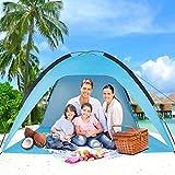 Sumerice Family Beach Tent and Sun Shade UV Cabana Shelter |...