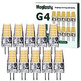 10 Pezzi Lampadina LED G4 3W, Equivalente a 30W Lampada Alogena, AC/DC 12V Mini Led Lampadine G4 300LM, Bianco Freddo 6000K Non Dimmerabile 360 Grado, per Luce da Casa Incasso, Faretti, Lampadario