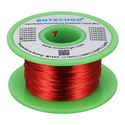 BNTECHGO 28 AWG Magnet Wire - Enameled Copper Wire - Enameled Magnet Winding Wire - 4 oz - 0.0126'...