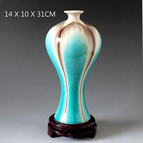 YZFGY Florero De Color Esmalte Horno De Cerámica Florero Grieta Abierta Belleza Botella De Ciruela Decoración del Hogar Joyería Artesanal Crafts (Color : A)