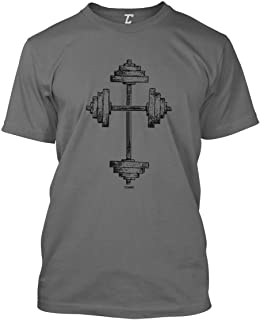 Barbell Cross - Gym Workout Crossfit Faith Men`s T-Shirt
