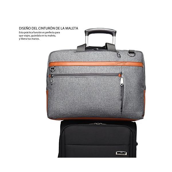 51mrglc3JqL. SS600  - CoolBELL Mochila Convertible en Bolso de Hombro para Guardar Ordenadores portátiles. Maletín de Negocios Mochila de Viaje para Guardar Ordenadores portátiles de 17,3 Pulgadas (Gris)