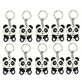 Finduat 20 Pcs Cute Cartoon Panda Keychains Keyring China National Treasure Panda Themed Party Favors Pendant for Kid Toy Ornament Souvenirs Gift