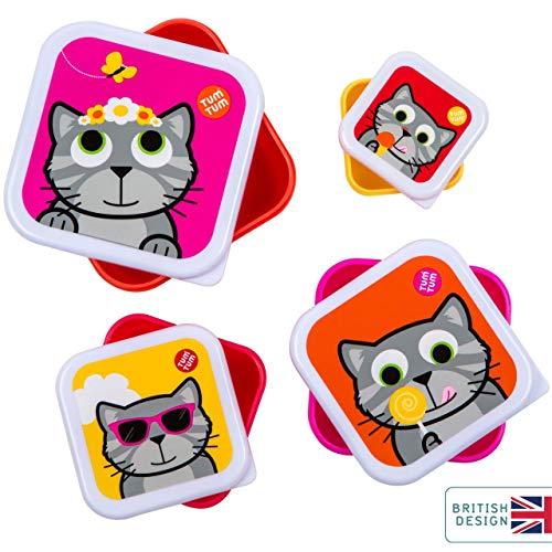 4er-Set Brotdosen (Katze Bluebell)
