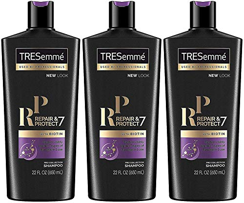 Tresemme Pro Collection Shampoo - Repair & Protect 7 - With Biotin - Net Wt. 22 FL OZ (650 mL) Per Bottle - Pack of 3 Bottles -  Tresemmé, 00022400000435