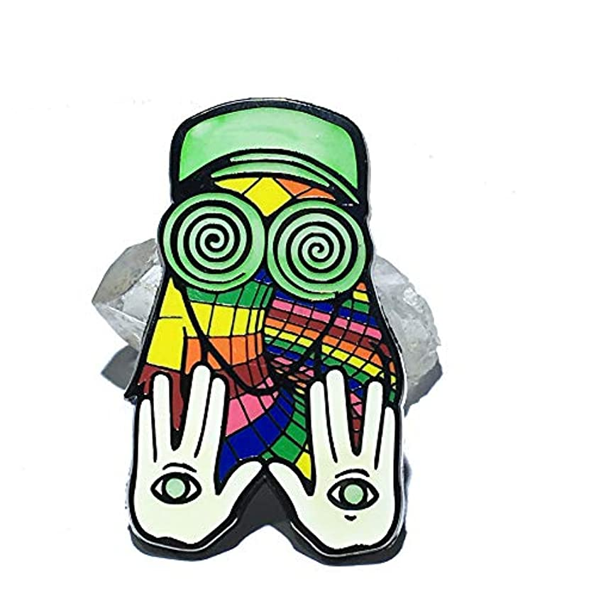 Magic EDM DJ REZZ hard enamel lapel pin