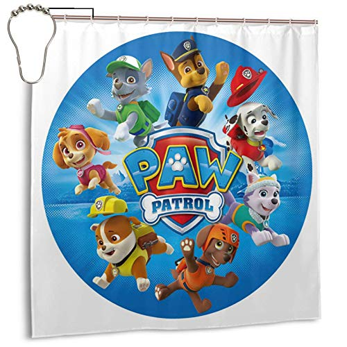 P-aw P-a-trol Shower Curtain,Waterproof Durable Shower Curtain for Your Home Campers Motels Hotels ,72x72in
