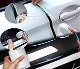 Coche Puerta Umbral Protector Película Tira película anti-colisión anti-arañazos para umbral puerta coche para Parte delantera Y Trasero Puerta Entrada Umbral Guardia Arrastrar Lámina (2Inch,10M)