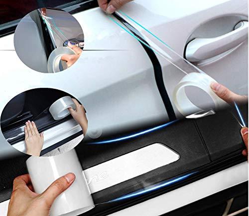 Protezioni bordi portiere auto Protezione guardia bordo rivestimento portiera auto Striscia pellicola anti-collisione per il bordo portiera auto adatta per maggior auto(1.18Inch,10M)