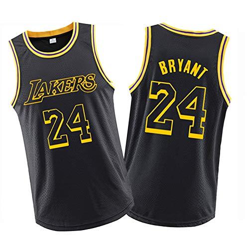 Lákers Kǒbe Bryǎnt Basketball Jersey-Jahrestag von Mamba Career Ehre Black Jersey Training Shirt 8.24-XL
