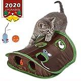 Interaktives Spielzeug Für Katzen Nachrichtenspielzeug Mit 9 Löchern, Pet Mice Hole Game Katzen Spielen Tunnel Faltbares Mausjagdspielzeug Mit Glocken Und Plüschmaus