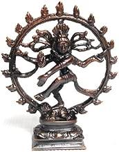 4Rissa Antique Bronze Finish Dancing Nataraja Nataraj Lord Shiva Dance Hindu Indian Metal Statue