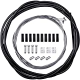 Kit de 4 Paquetes Cables de Cambio de Bicicleta Universal, Cable de Cambio de Bicicleta y Cable de Transmisión, Kit de Carcasa de Cable de Cambio de Bicicleta para Reparación de Bicicletas(Negro)