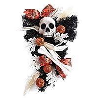 花輪に掛かっハロウィーン花輪トレーラーカボチャ装飾すぐそばの魔女の帽子,C