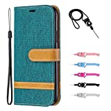 Samsung Galaxy A10E Leather Case,TOYYM Slim Jean Design PU Leather Wallet Cover Card&Cash Slots Stand Feature Magnetic Closure,Flip Notebook Case for Samsung Galaxy A10E-Blue#2