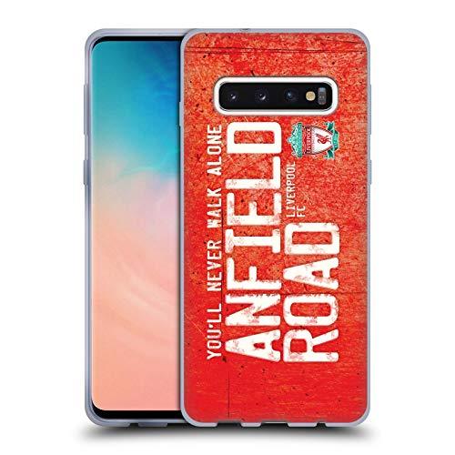 Head Case Designs Offizielle Liverpool Football Club Strasse Anfield Rot Crest Du Wirst Niemals Alleine Gehen Soft Gel Huelle kompatibel mit Samsung Galaxy S10