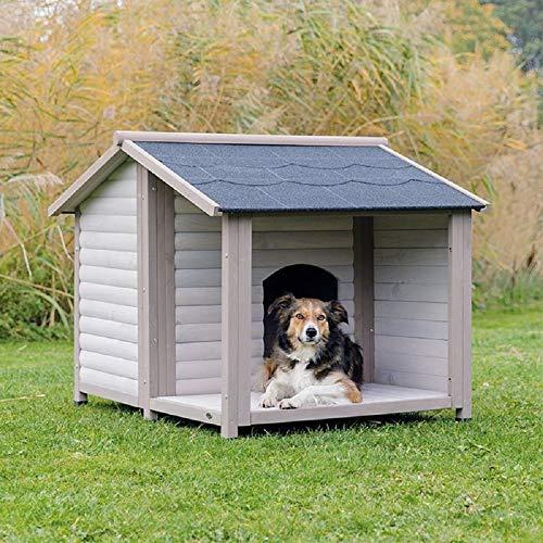PaylesswithSS Caseta para perros de madera con porche al air