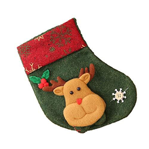 Gugutogo Medias de Navidad Medias de Navidad Bolsa de Regalo Colgantes Bolsas de Dulces para niños Calcetines...
