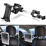 Supporto Auto, iKross Universale Supporto Poggiatesta per Tablet da 7-10.2 pollici, Poggiatesta Schienale da Sedile Posteriore Allungabile, Regolabile e 360 Gradi di Rotazione, Nero
